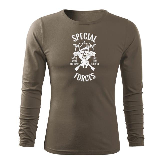 c4abf90a7fd45 O&T Fit-T tričko s dlhým rukávom special force, olivová 160g/m2 zväčšiť  obrázok