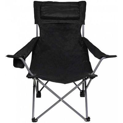 MFH Delux rybárska stolička, čierna
