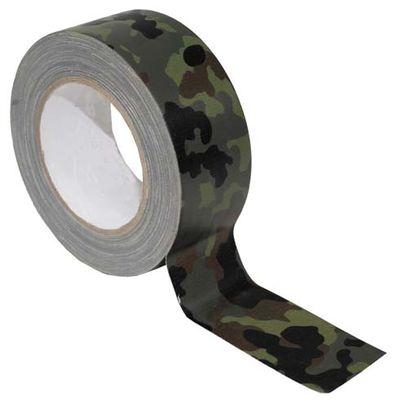MFH Textilná páska, flecktarn, 25m
