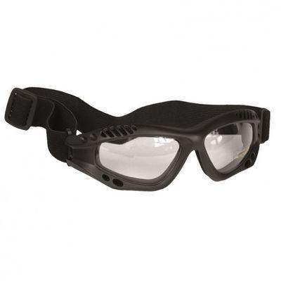 Mil-Tec Commando priehľadné ochranné okuliare, čierne